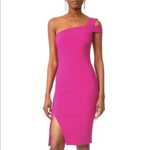 Likely Packard Pink One Shoulder Dress Size 4 NWT